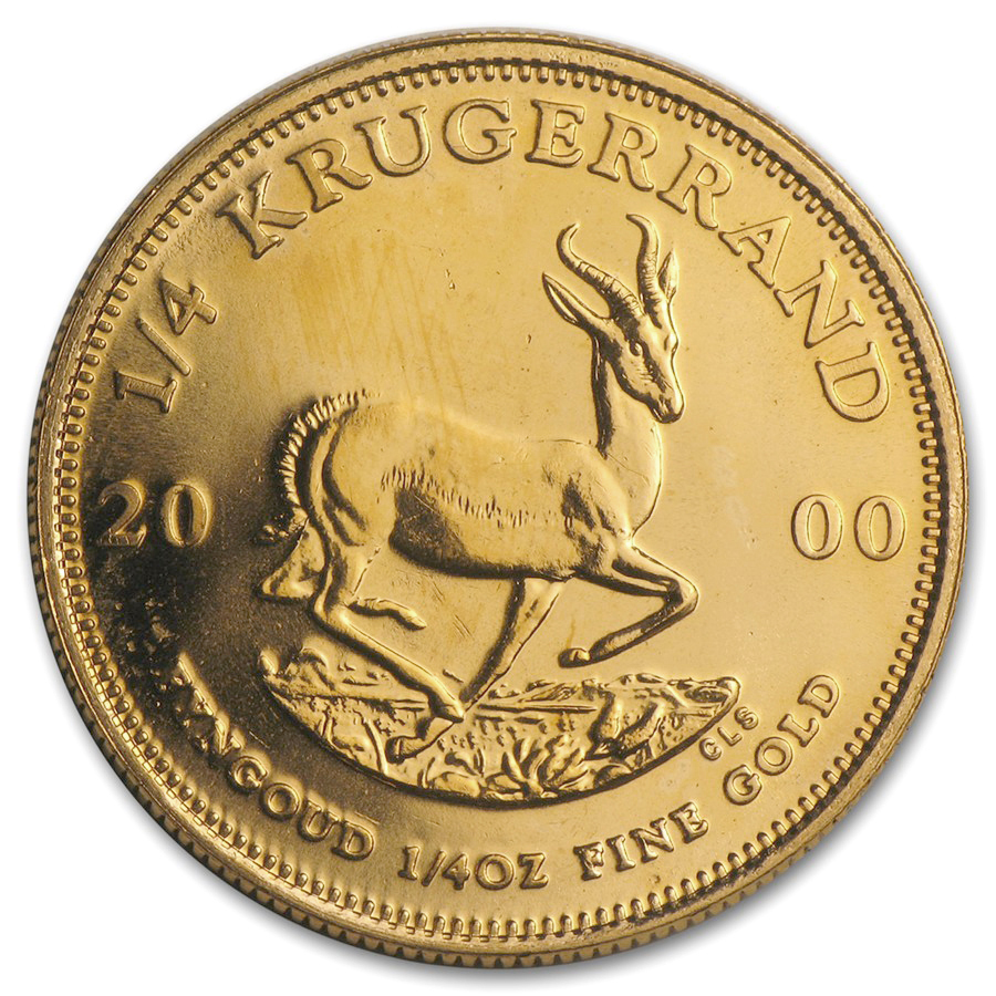 2000 South Africa 1/4 oz Gold Krugerrand BU