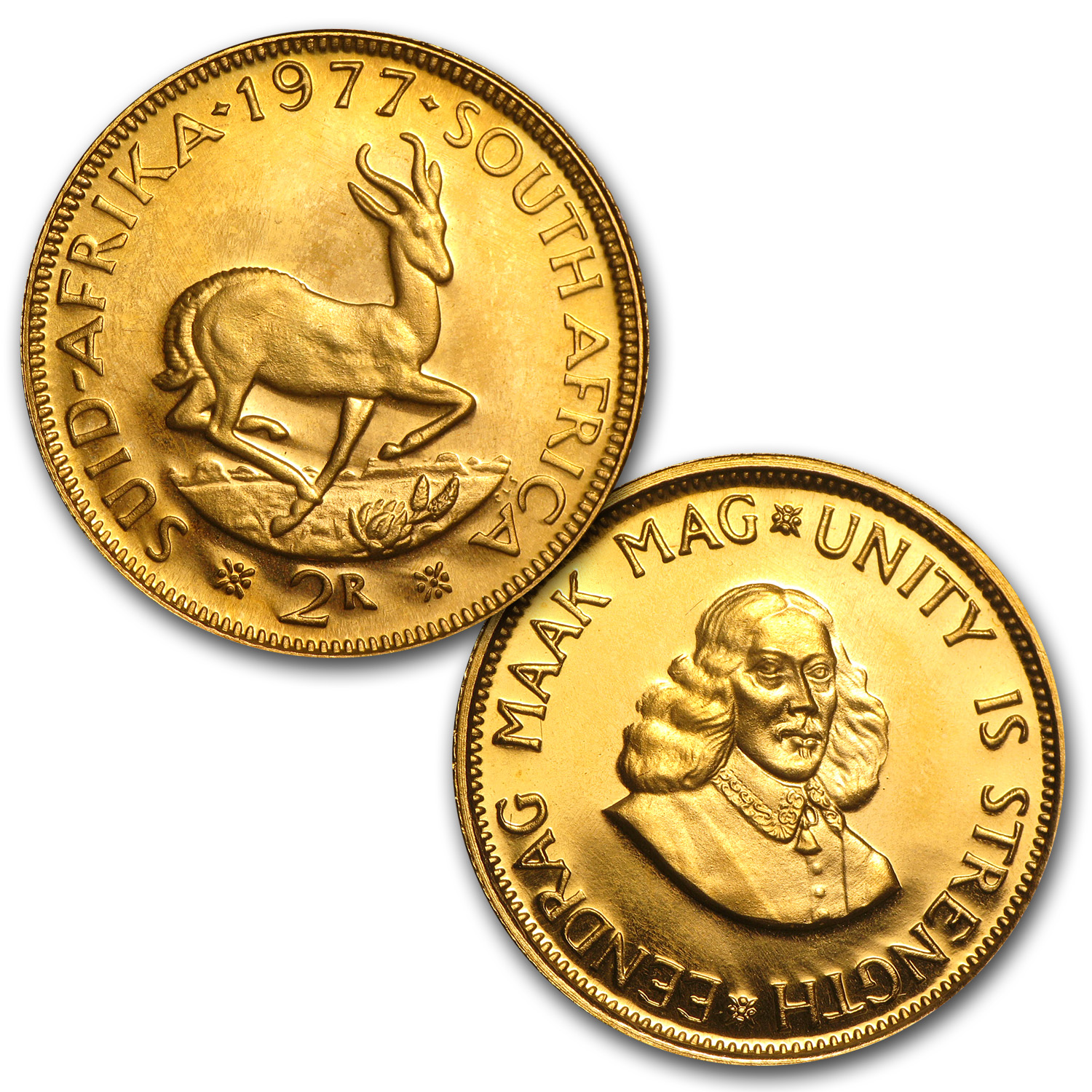 1977 South Africa 2-Coin Gold Proof Set