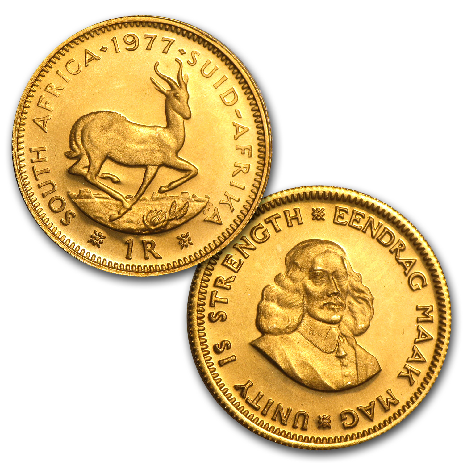 South Africa 1977 2 Coin Gold Proof Set