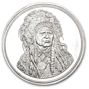 5 oz Silver Round - Running Antelope (Light Abrasions)