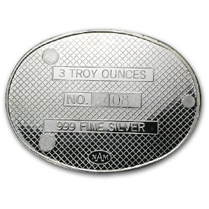 3 oz Silver Oval - The Coin Collector