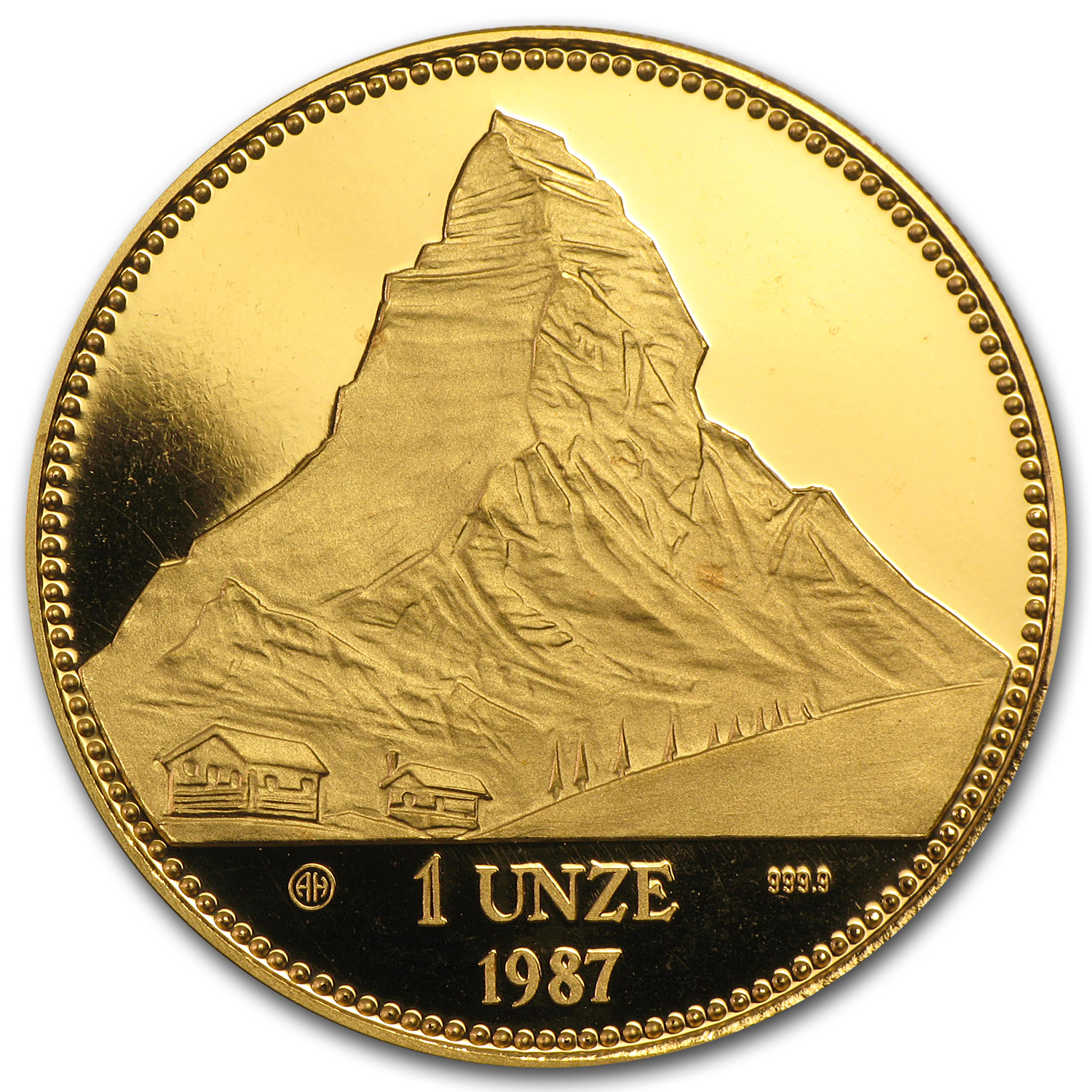 Switzerland 1987 1 Unze 999.9 Gold