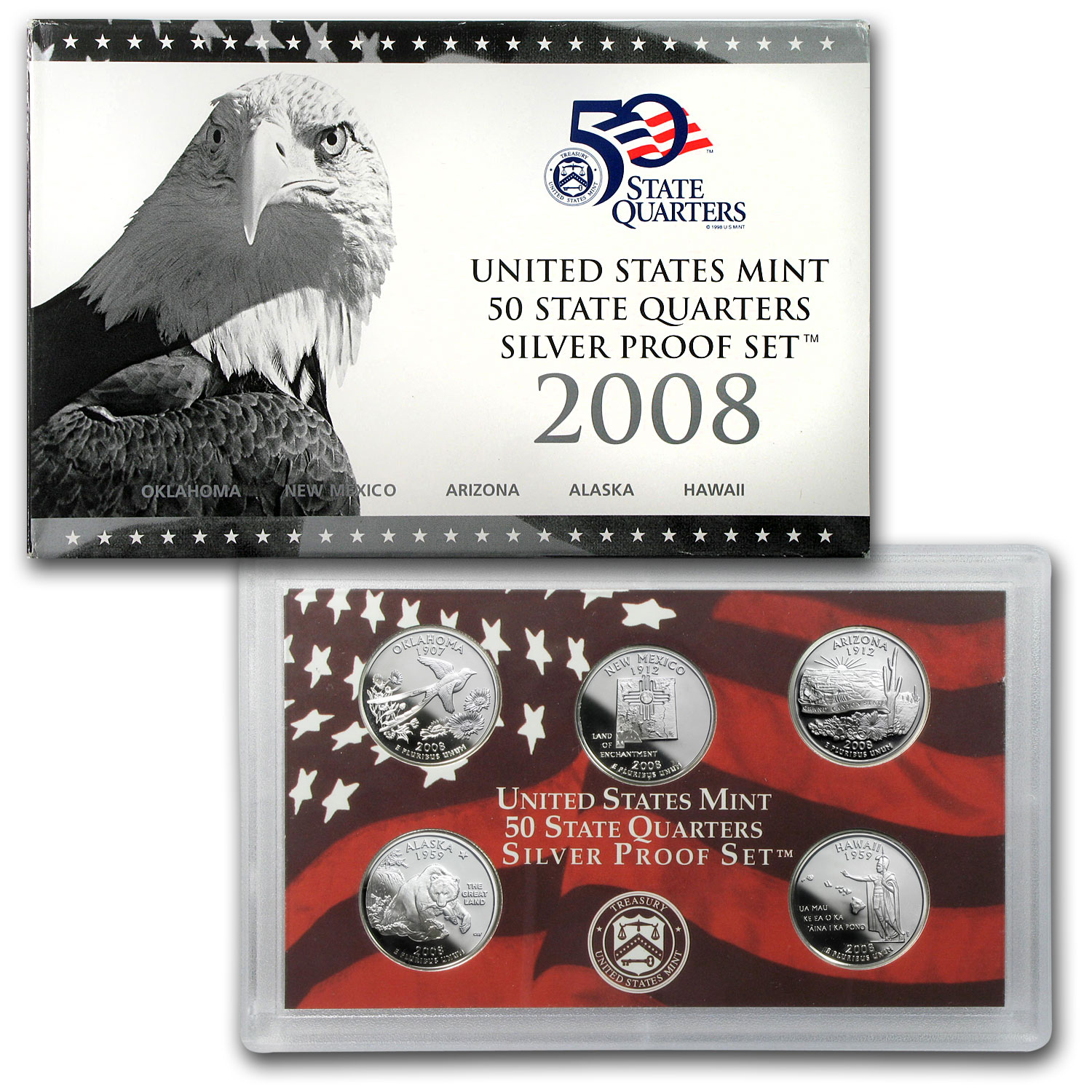 2008 State Quarters Silver Proof Set