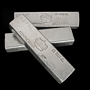 25 oz Silver Bars - MG Crown