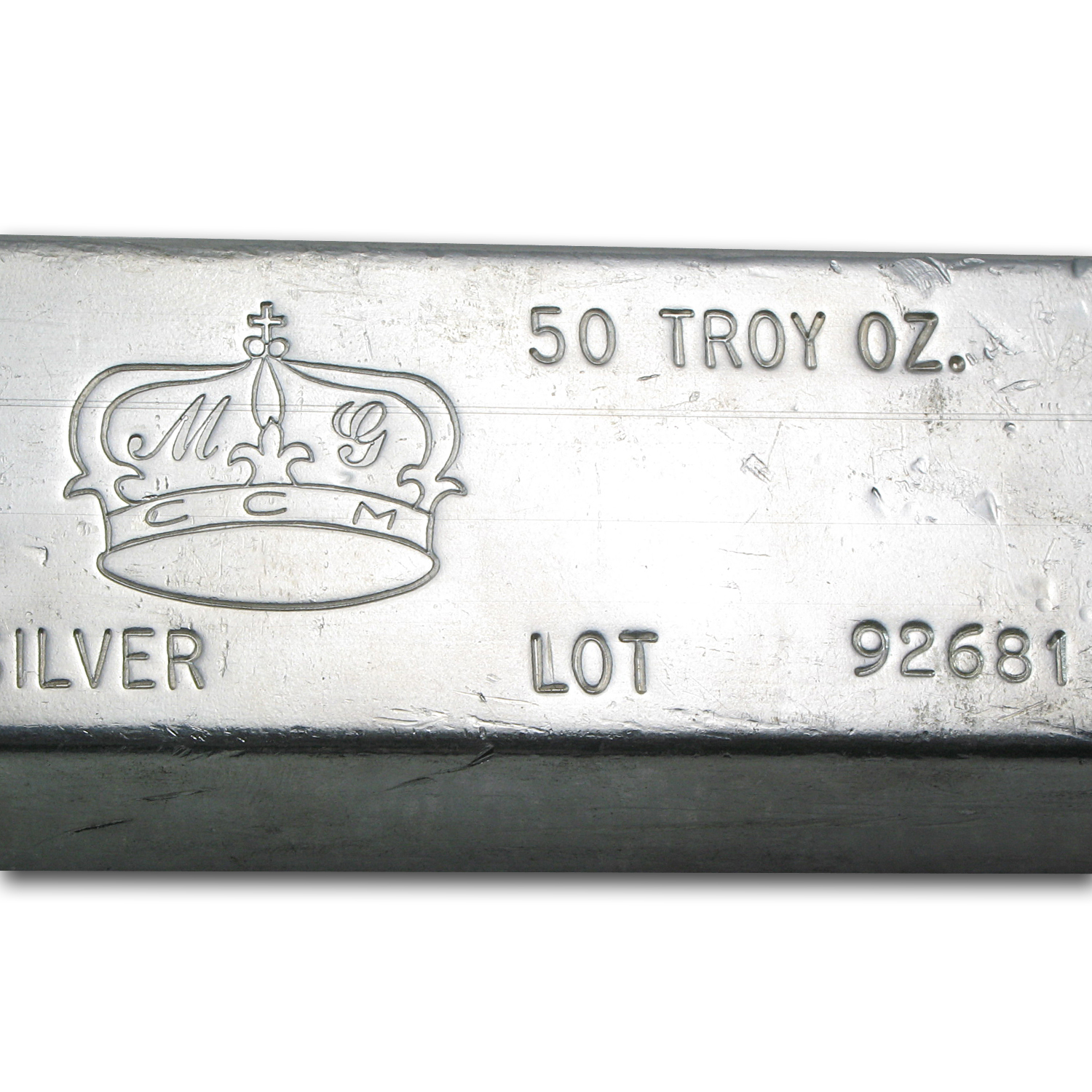 50 oz Silver Bar - MG Crown