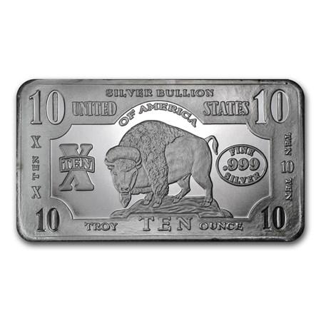 10 Oz Silver Bar Buffalo 10 Oz Silver Bars Apmex