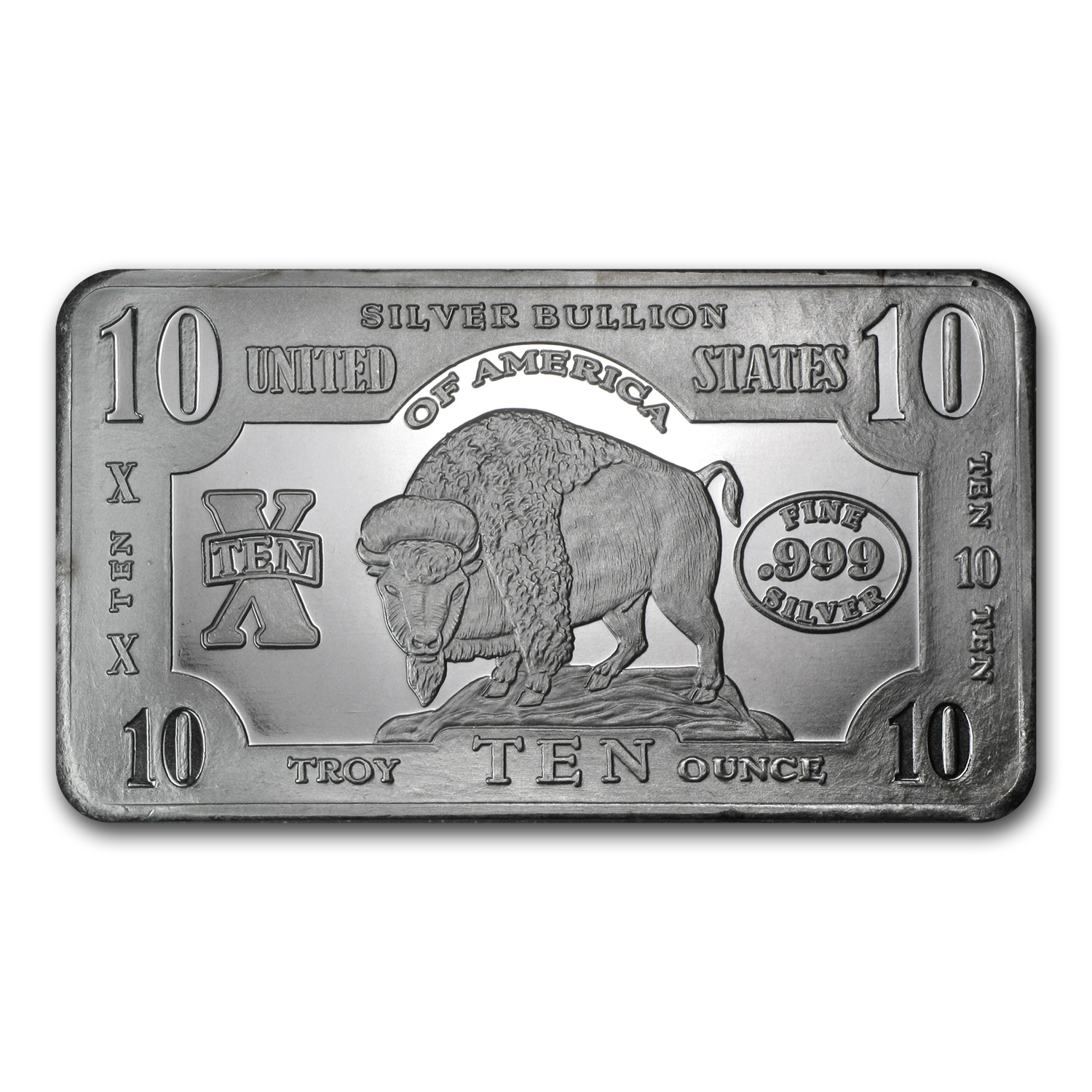 10 oz Silver Bar - Buffalo