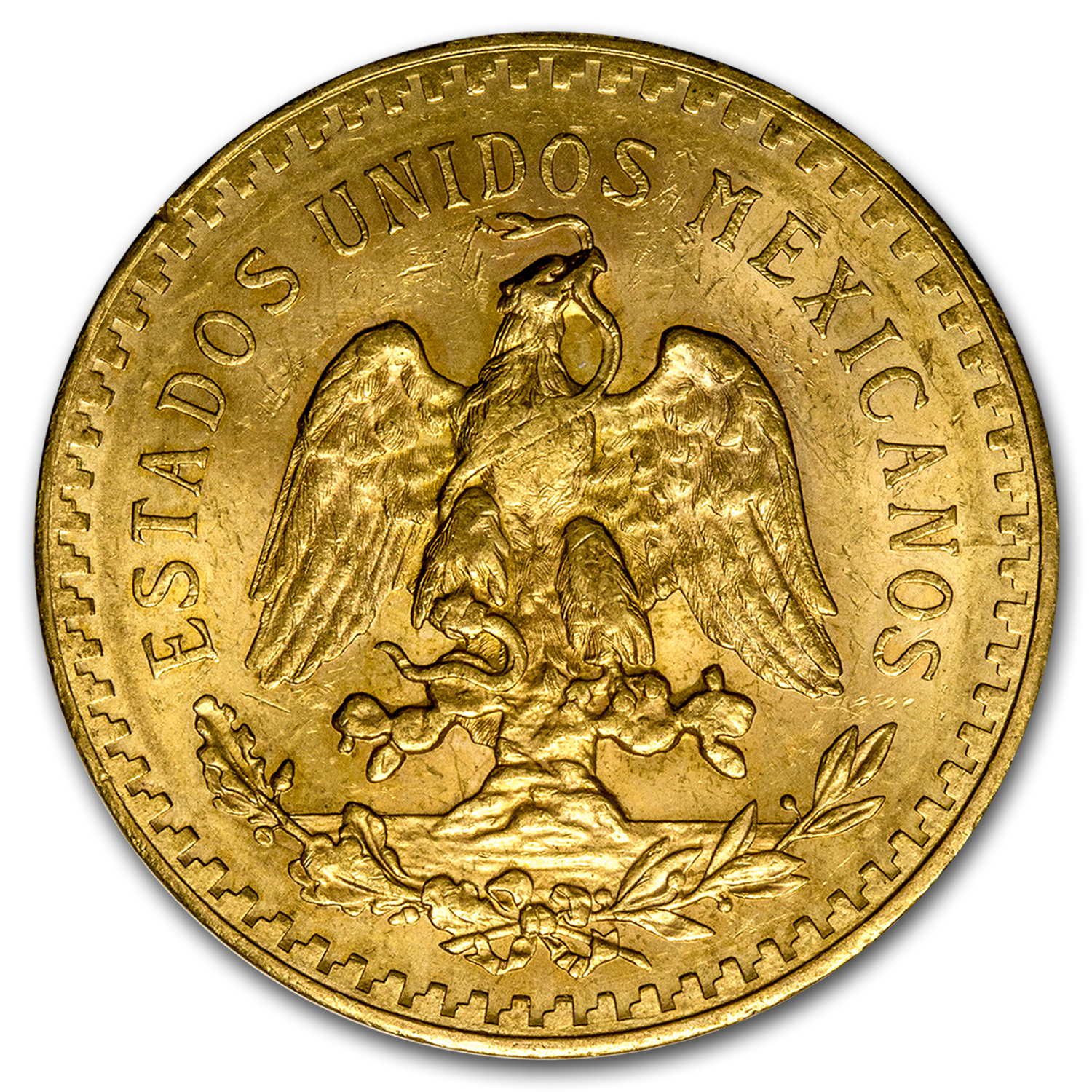 1927 Mexico Gold 50 Pesos AU