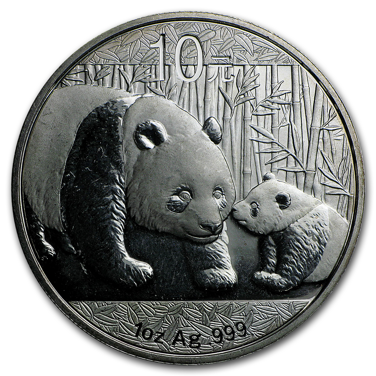 Random Year 1 oz Silver Chinese Panda - Scruffy