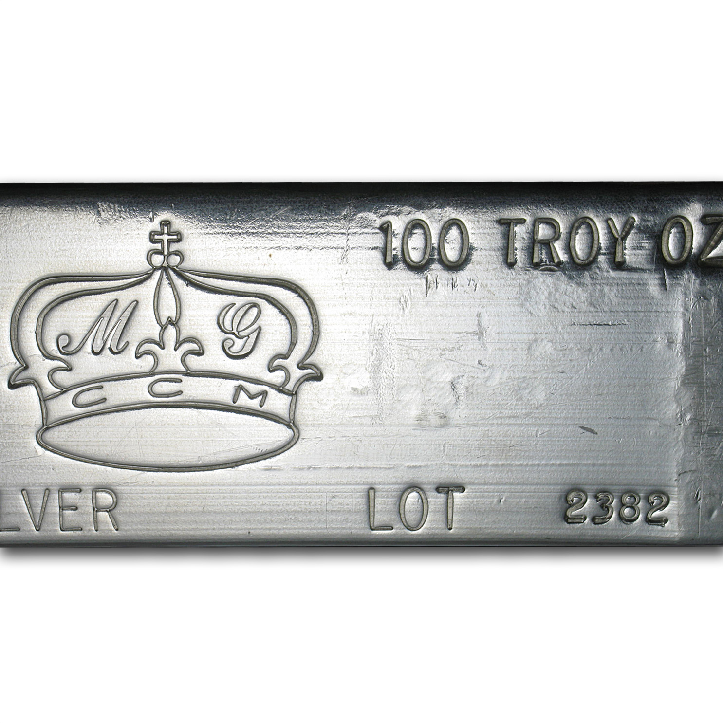 100 oz Silver Bar - MG Crown