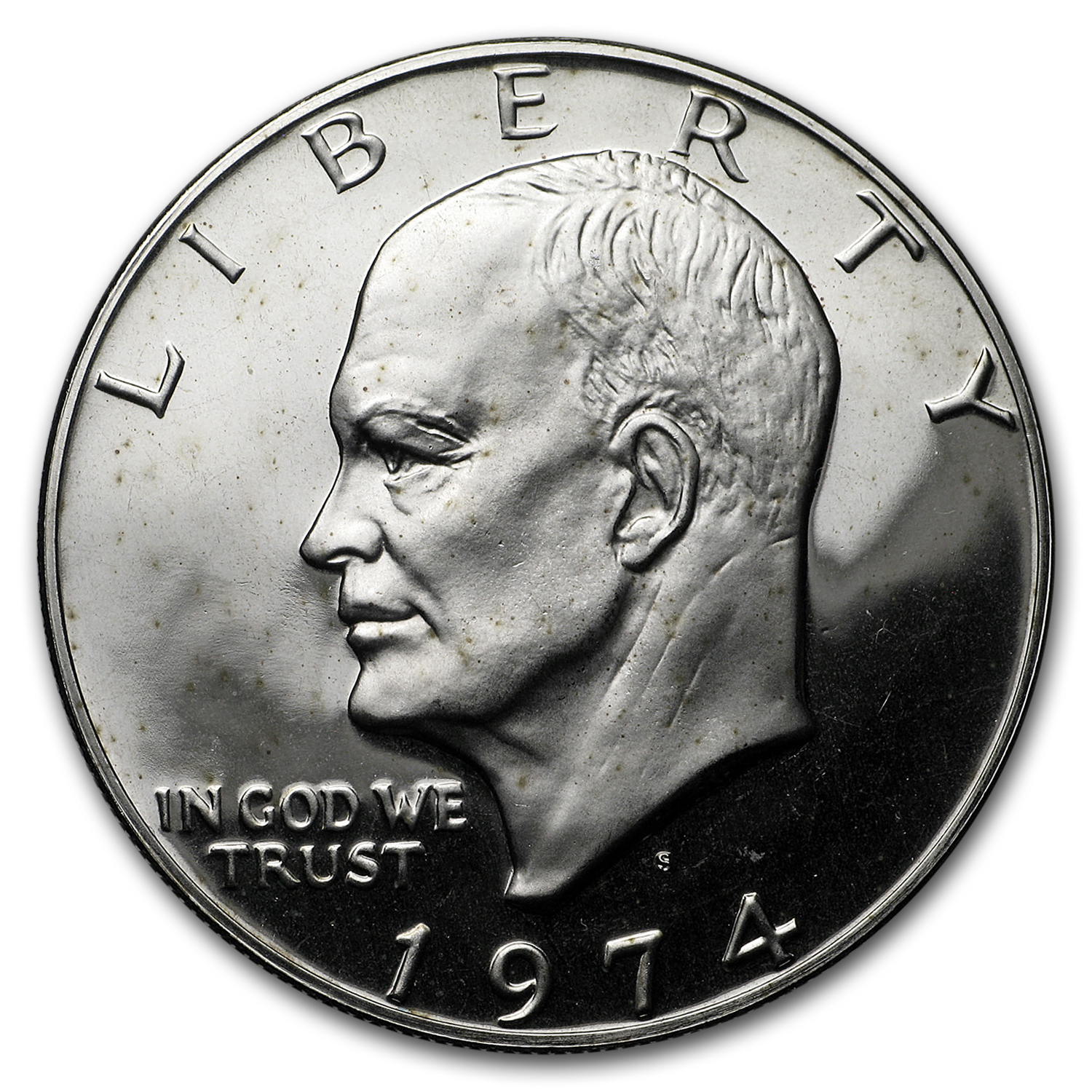 1974-S Clad Silver Eisenhower Dollars 20-Coin Roll Gem Proof