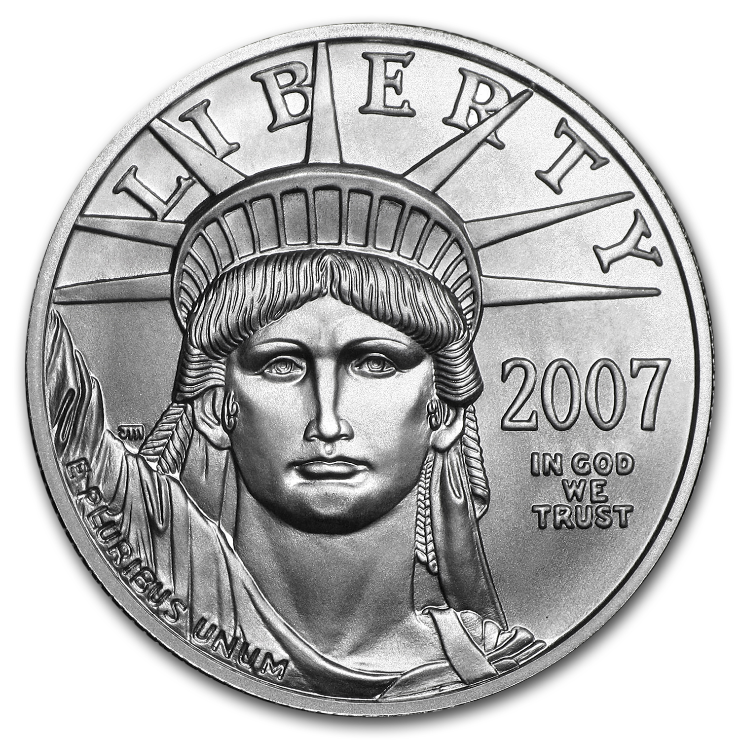 2007-W 1/2 oz Burnished Platinum American Eagle (w/Box & CoA)