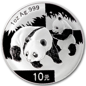 2008 China 1 oz Silver Panda MS-70 PCGS