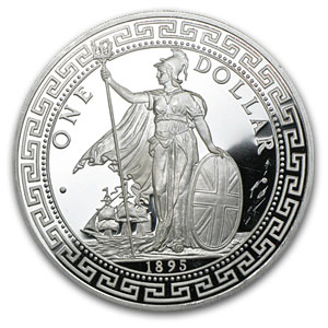 5 oz Silver Rounds - British Trade Dollar