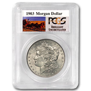 1903 Brilliant Uncirculated PCGS Stage Coach Silver Dollar