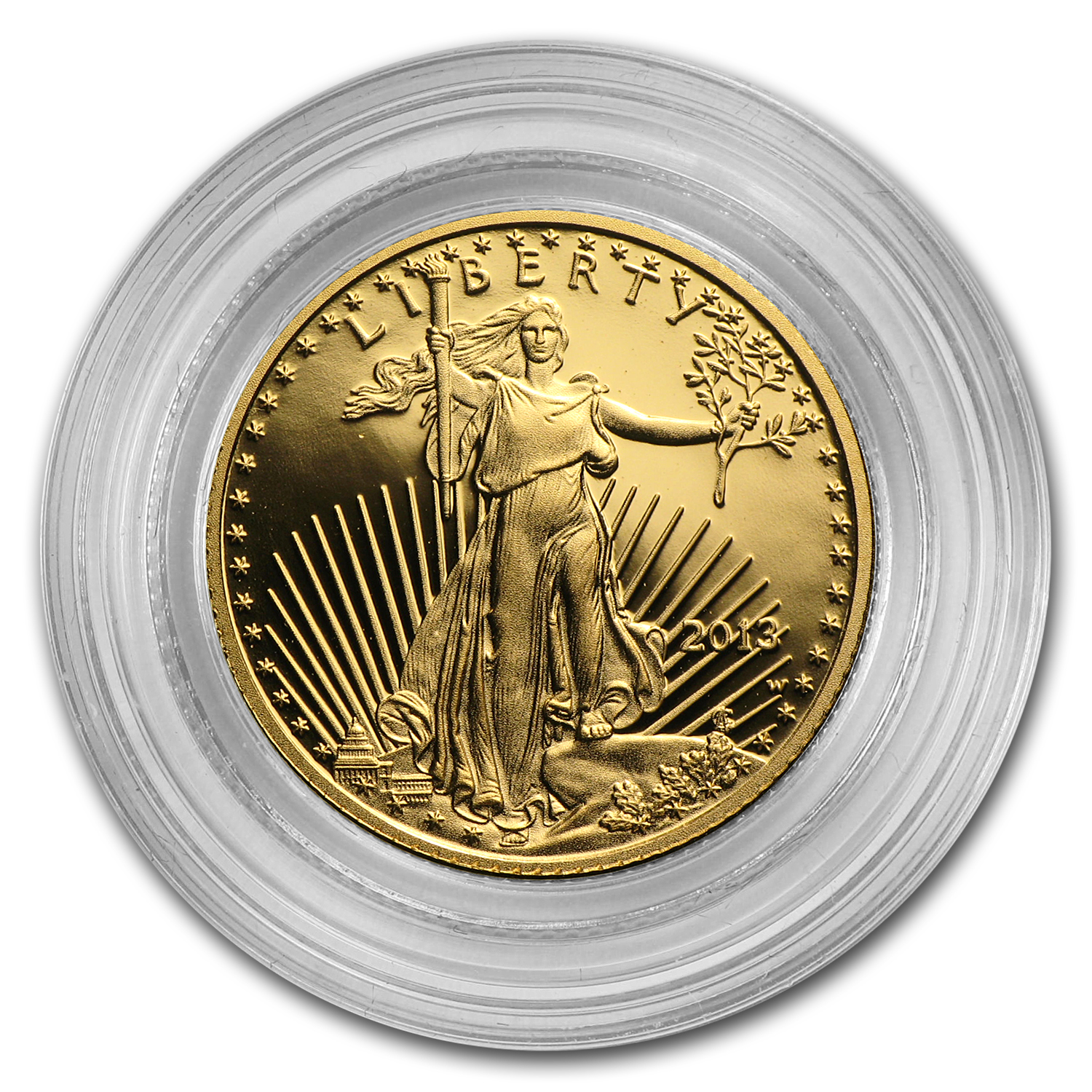 1/10 oz Proof Gold American Eagle (Capsule Only)