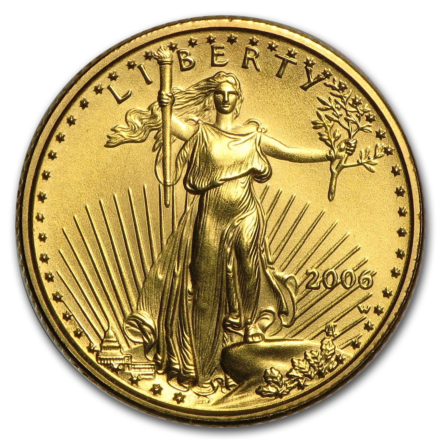 2006-W 1/10 oz Burnished Gold American Eagle (w/Box & COA)