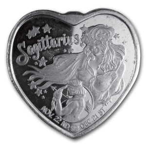 1 oz Silver Heart - For Someone Special (Sagittarius)