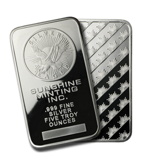 5 oz Silver Bar - Sunshine (Original)
