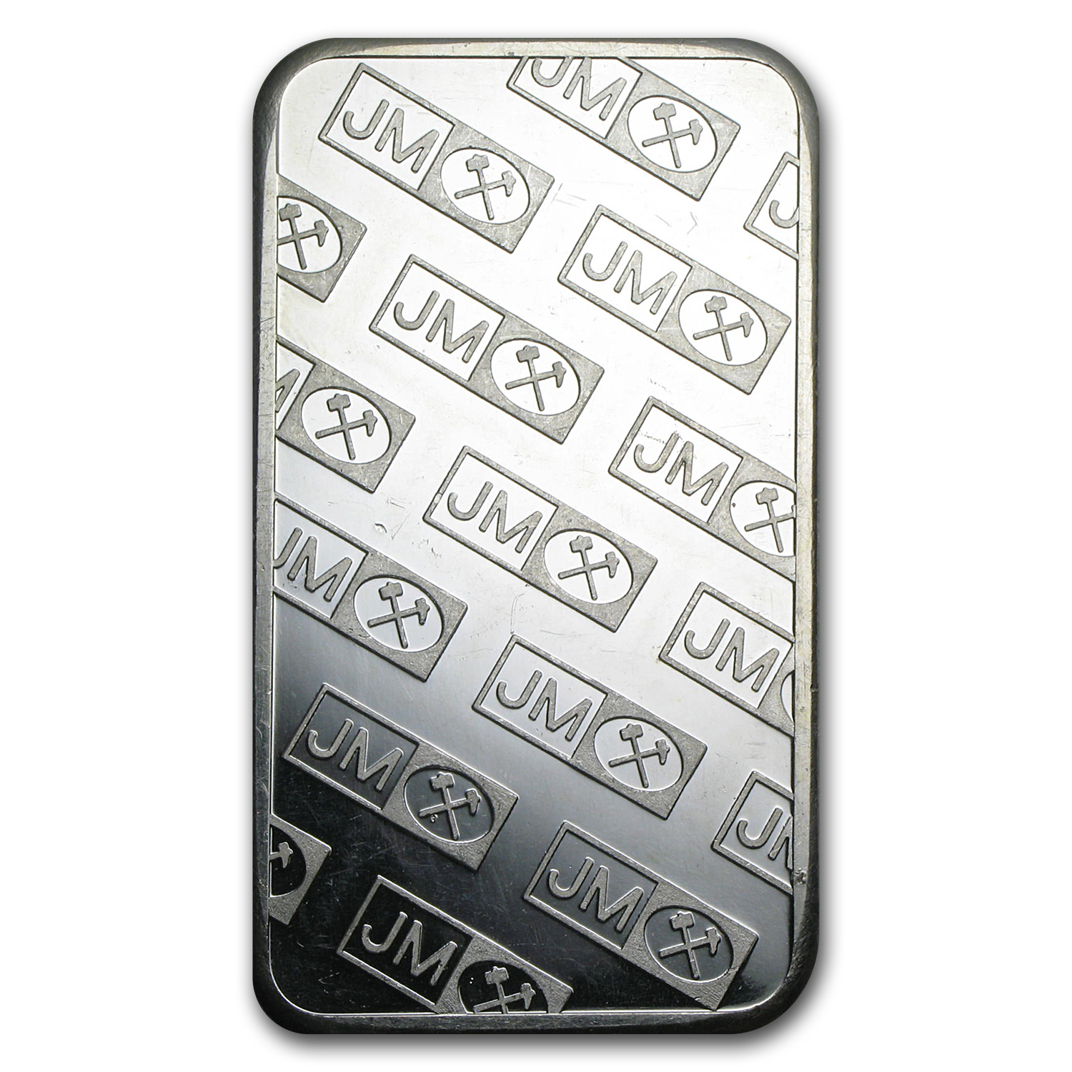5 oz Silver Bars - Johnson Matthey (Pressed/JM logo)