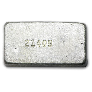 5 oz Silver Bars - Silvertowne (Poured/Vintage)