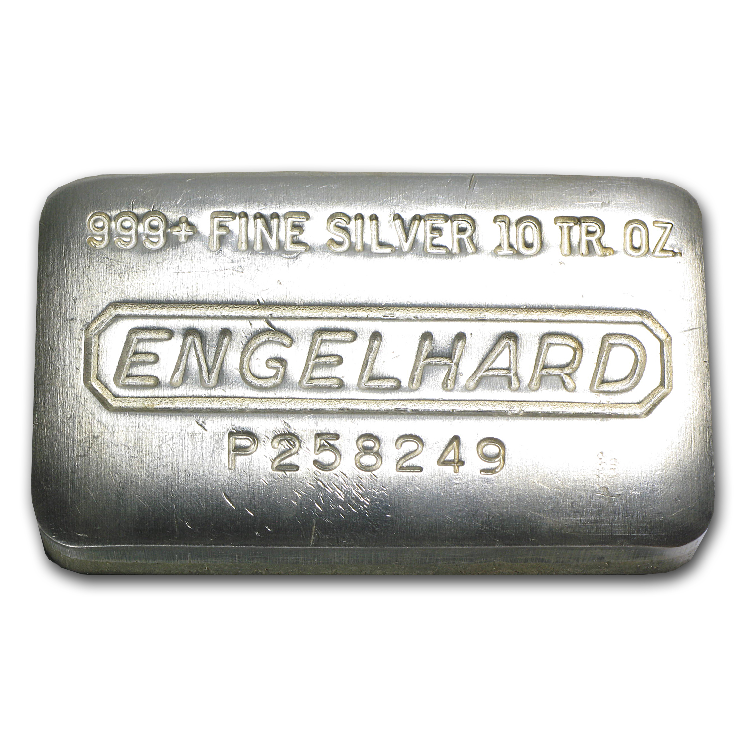10 oz Silver Bar - Engelhard (Wide, Pressed)