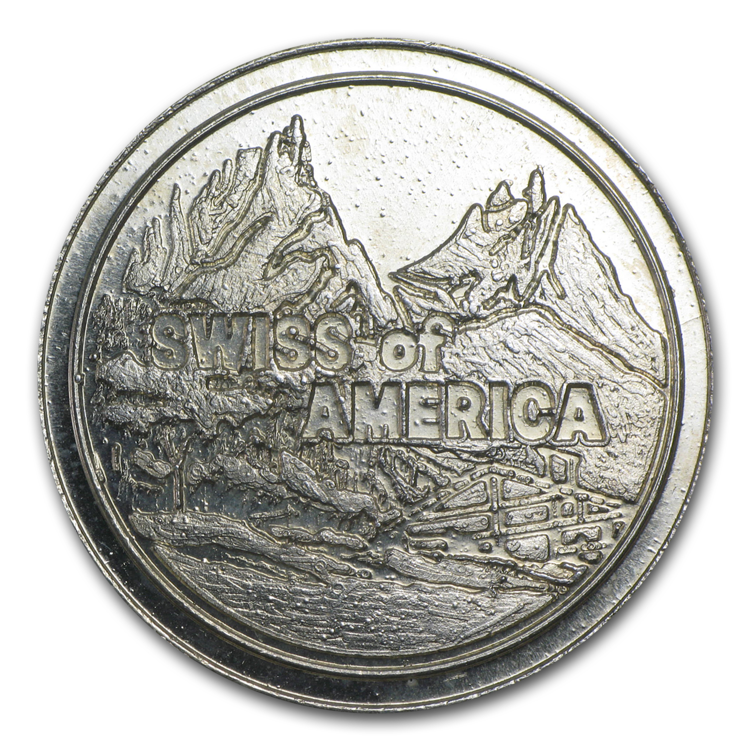 1 oz Silver Round - Swiss of America (38 mm)