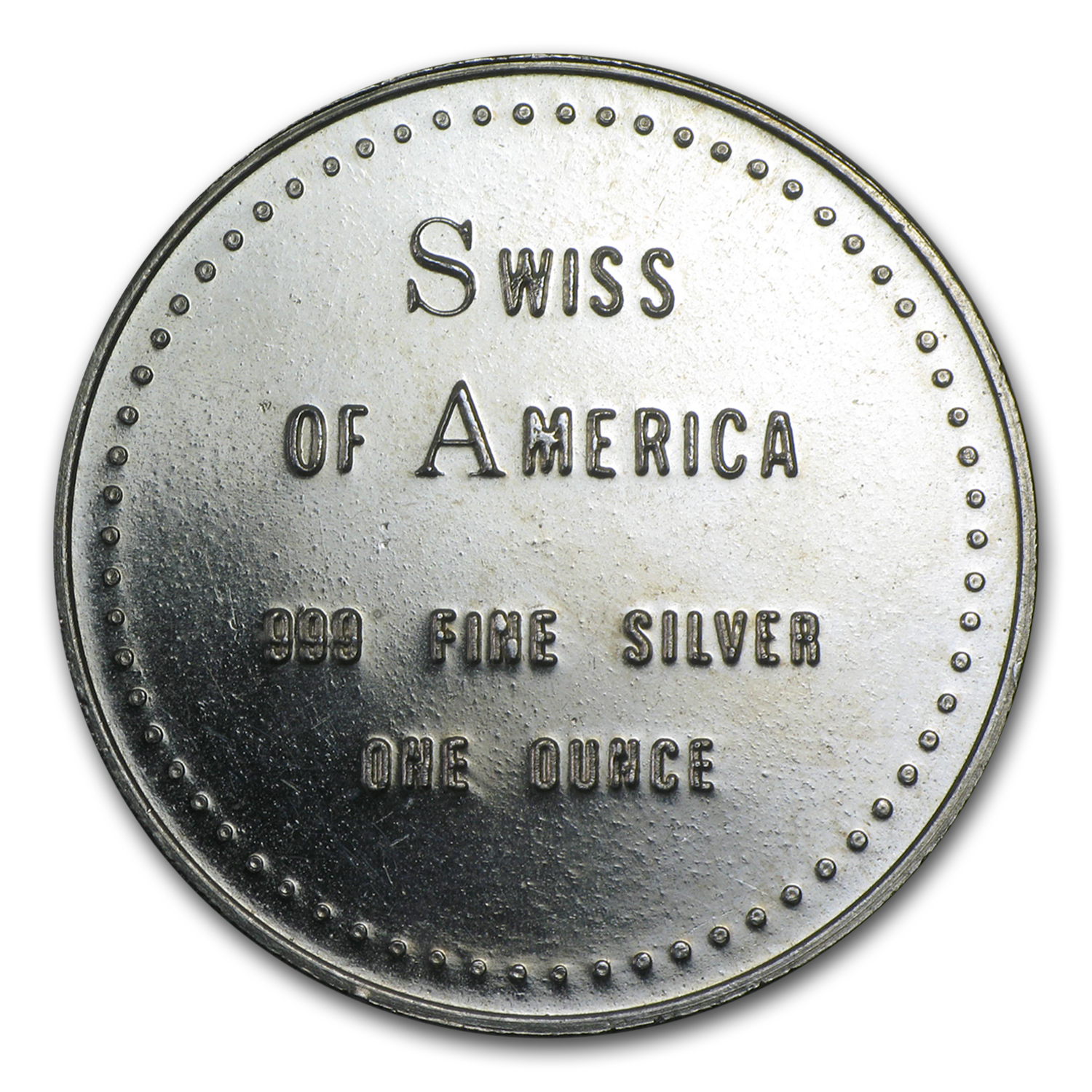 1 oz Silver Rounds - Swiss of America (38 mm)