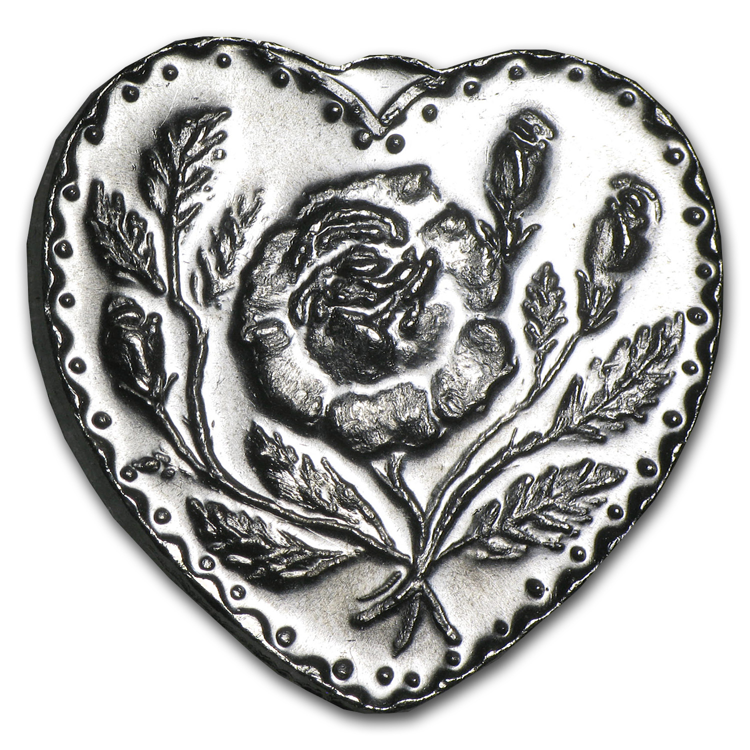 1/2 oz Silver Heart Shaped - For Someone Special (Rose)