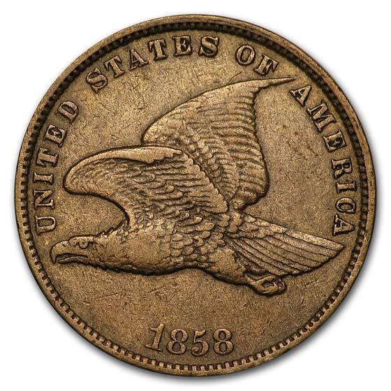 1858 Flying Eagle Cent Small Letters XF
