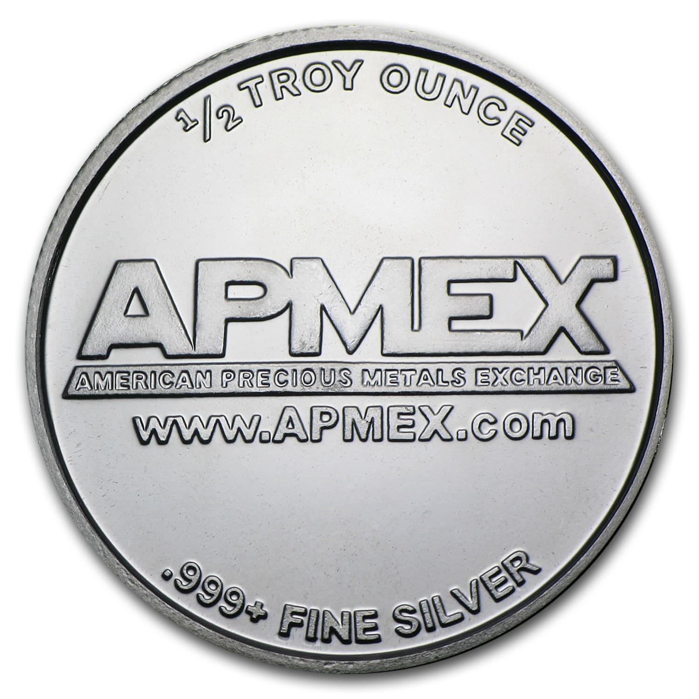 1 2 Oz Silver Round Apmex Fractional Less Than 1 Oz