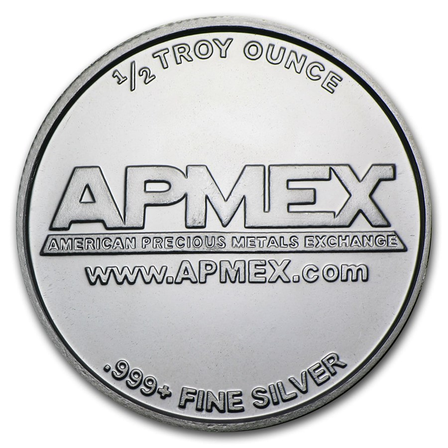 1 2 Oz Silver Round Apmex Fractional Less Than 1 Oz