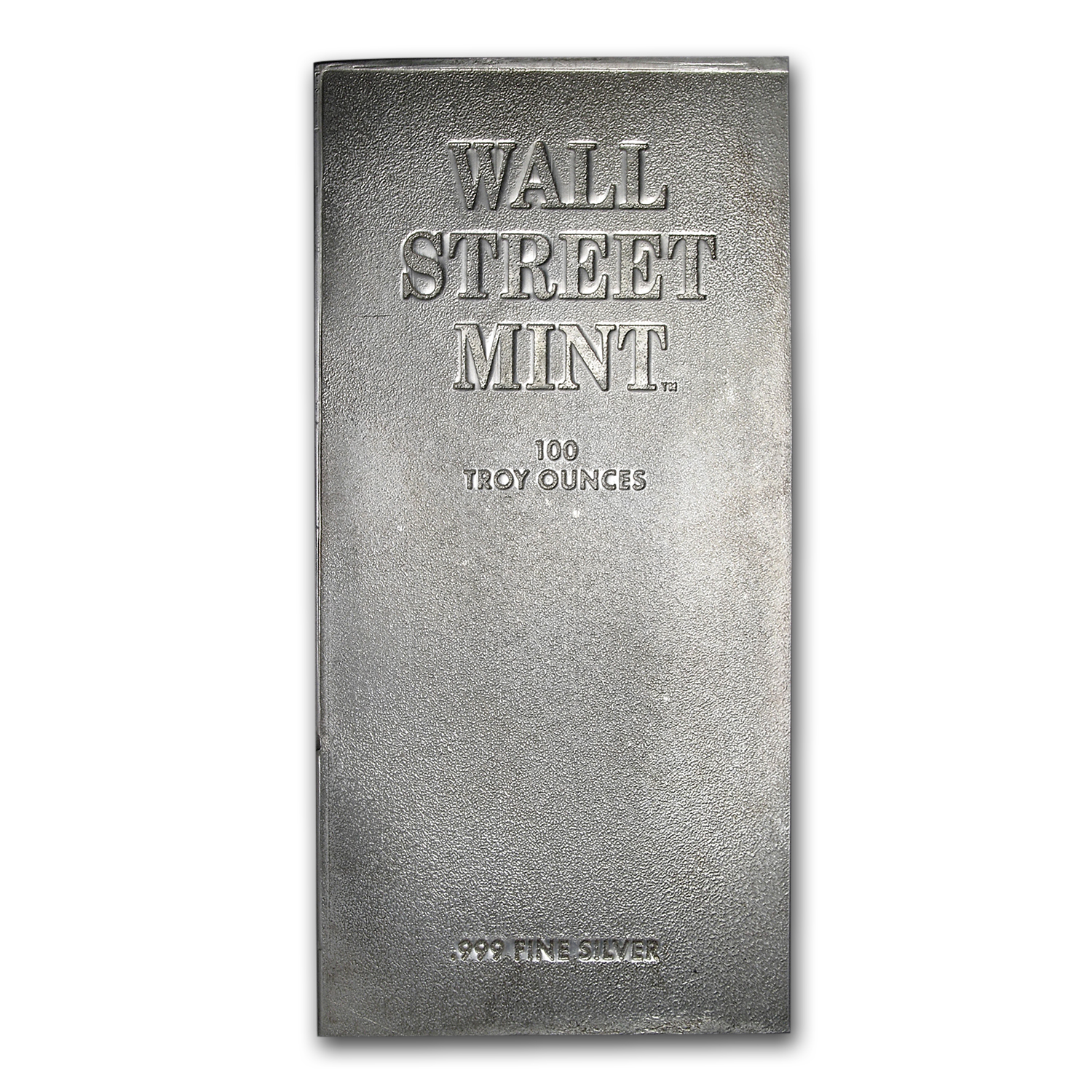 100 oz Silver Bar - Wall Street Mint