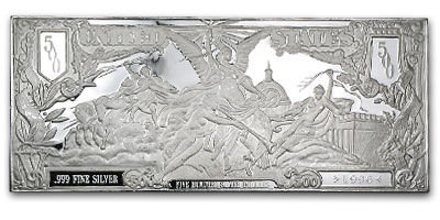 8 oz Silver Bar - $500 Bill (1896)