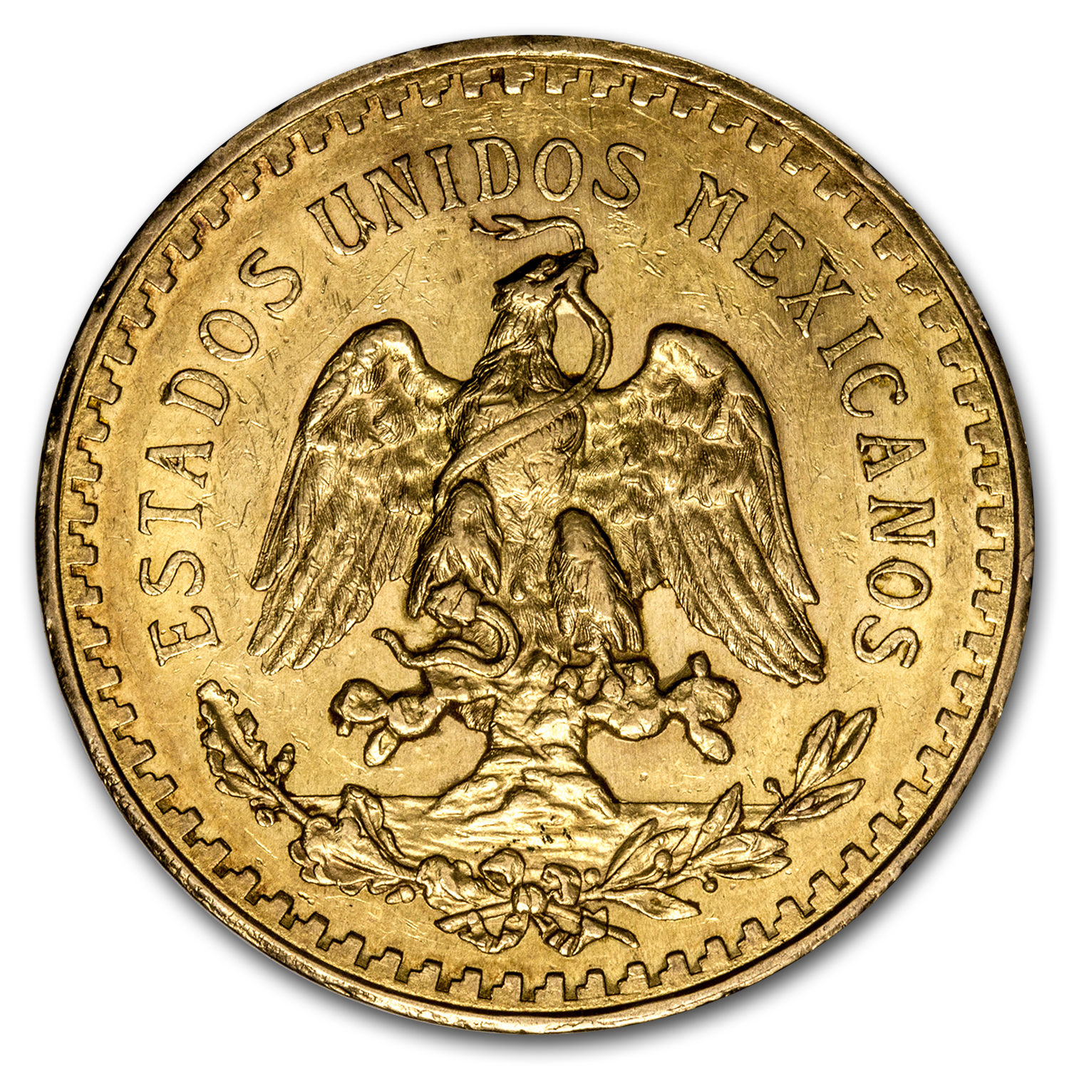 1930 Mexico Gold 50 Pesos AU