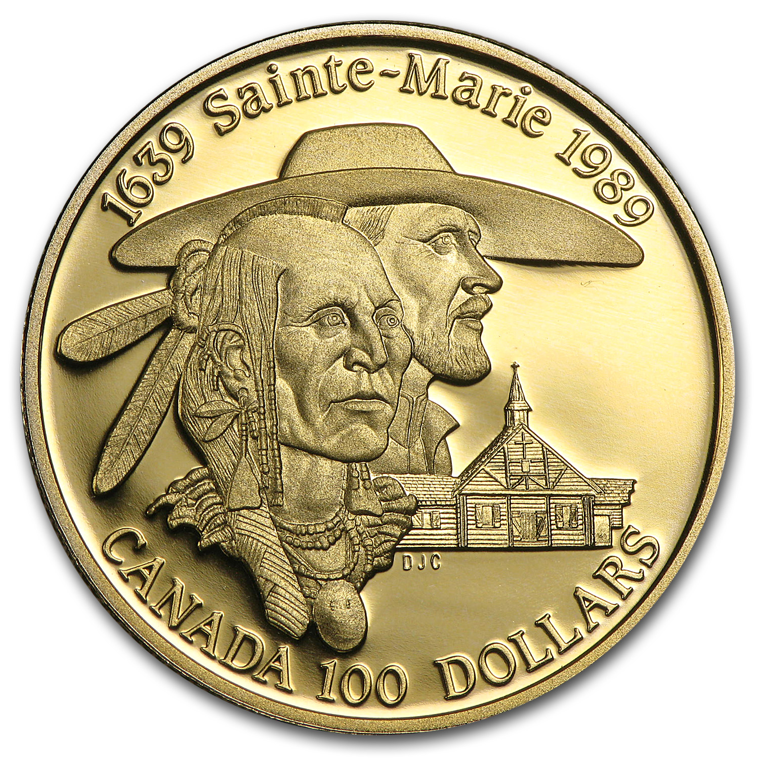 1989 1/4 oz Gold Canadian $100 Proof - Sainte-Marie
