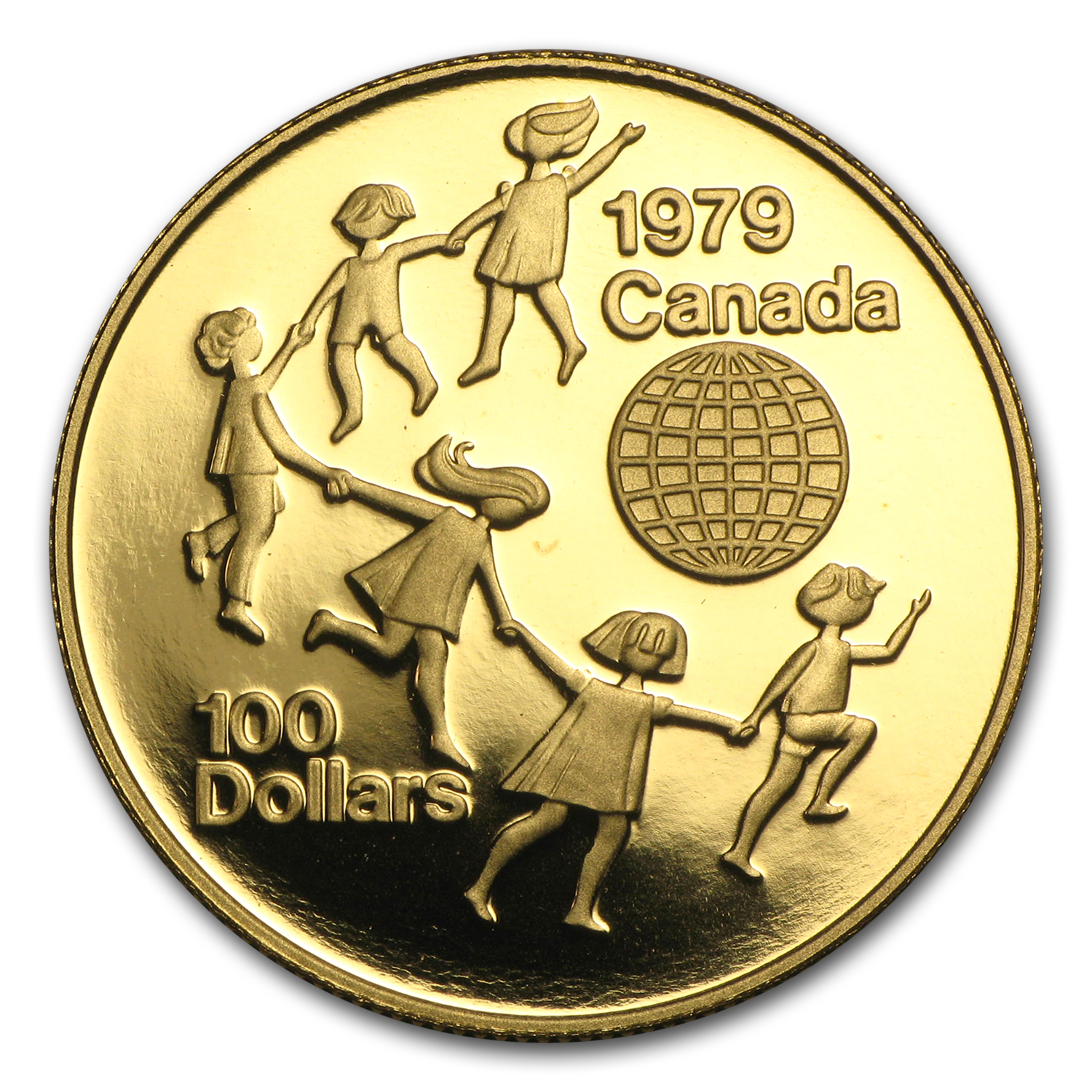 1979 Canada 1/2 oz Proof Gold $100 Year of the Child