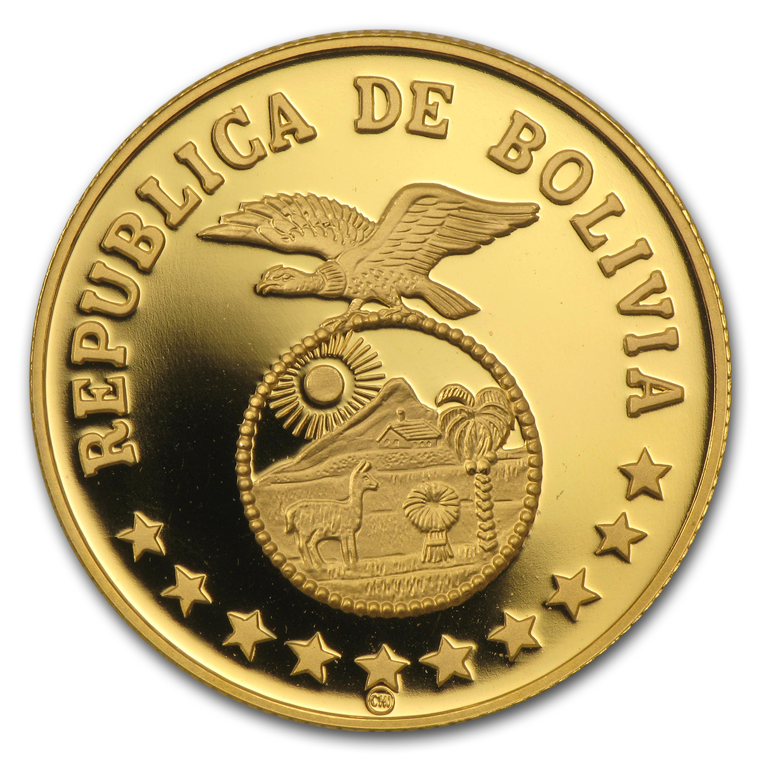 1979 Bolivia Gold 4000 Pesos Bolivianos Year of Child Proof