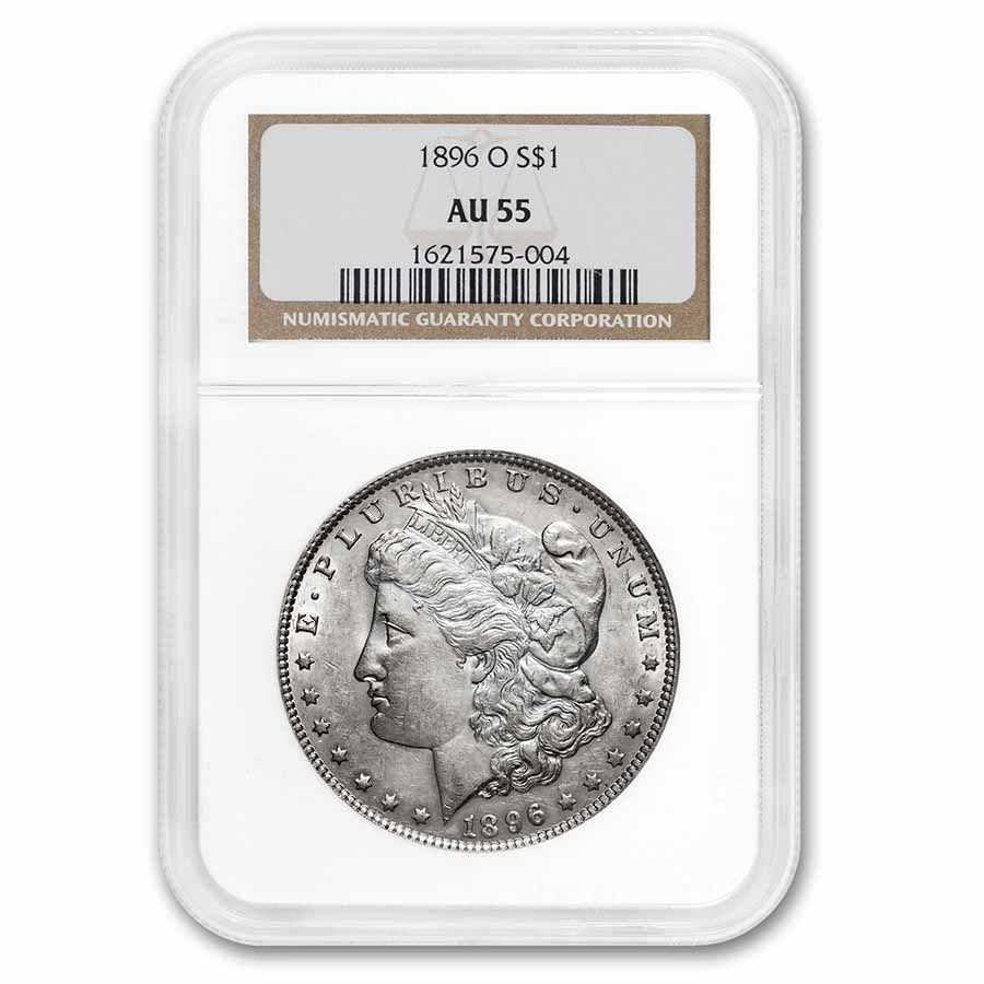 1896-O Morgan Dollar AU-55 NGC