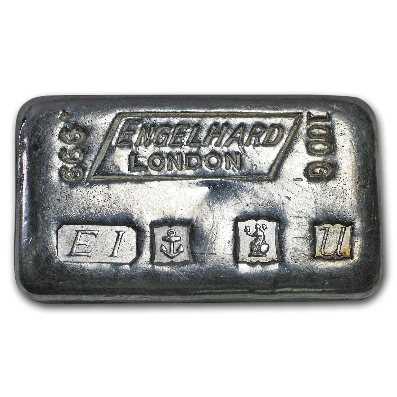 100 Gram Silver Bar Engelhard All Other Sizes Silver