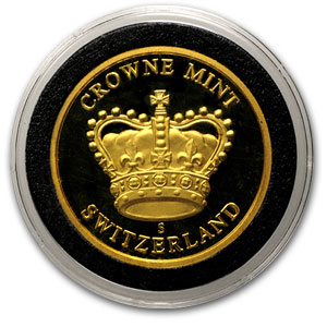 1 oz Gold Round - Crowne Mint