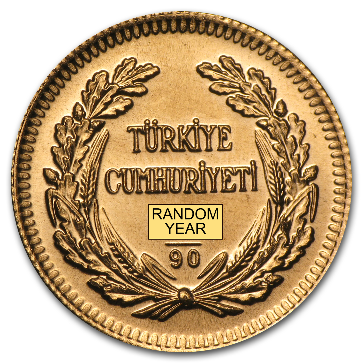Turkey 1923/XX Gold 100 Kurush BU