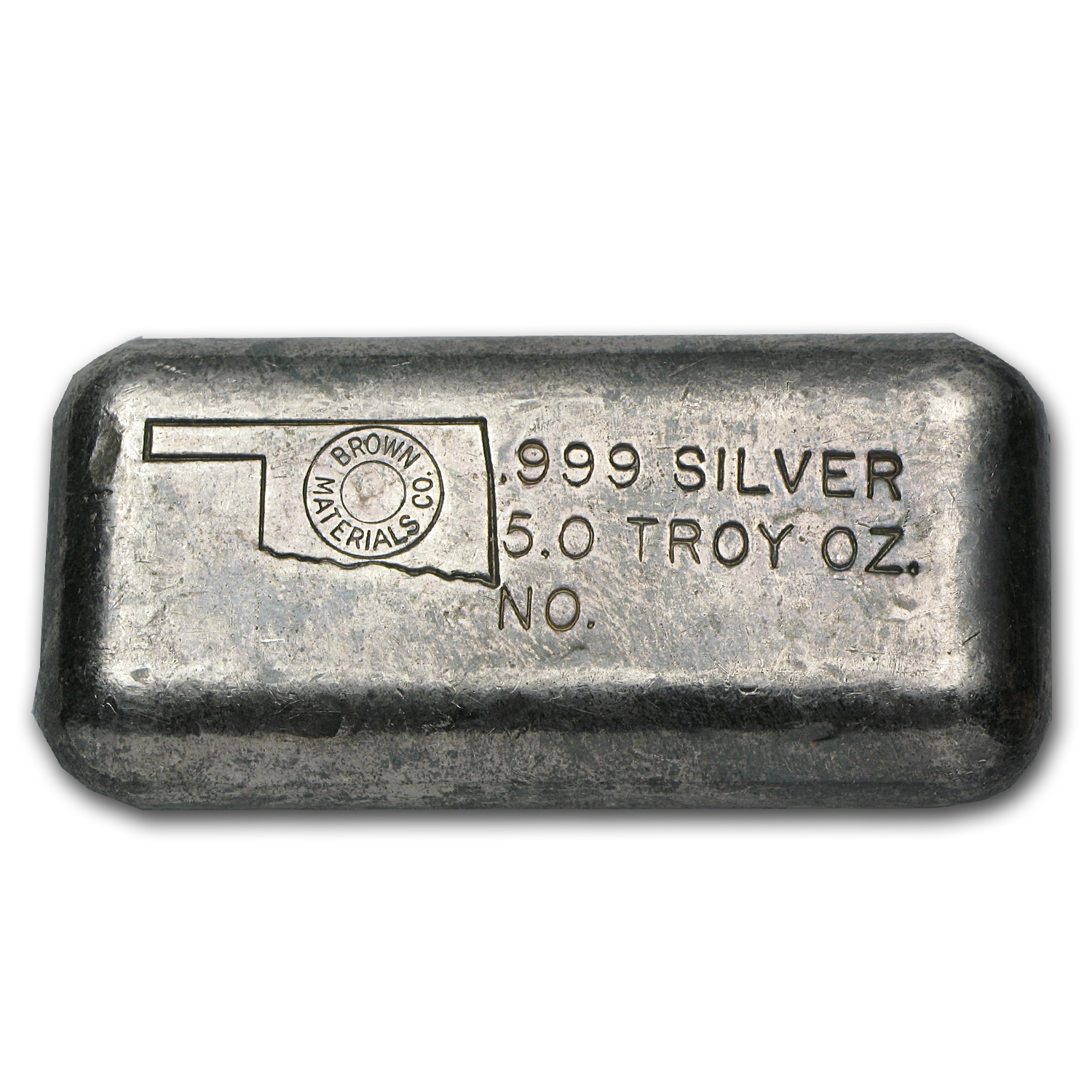 5 oz Silver Bar - Brown Materials