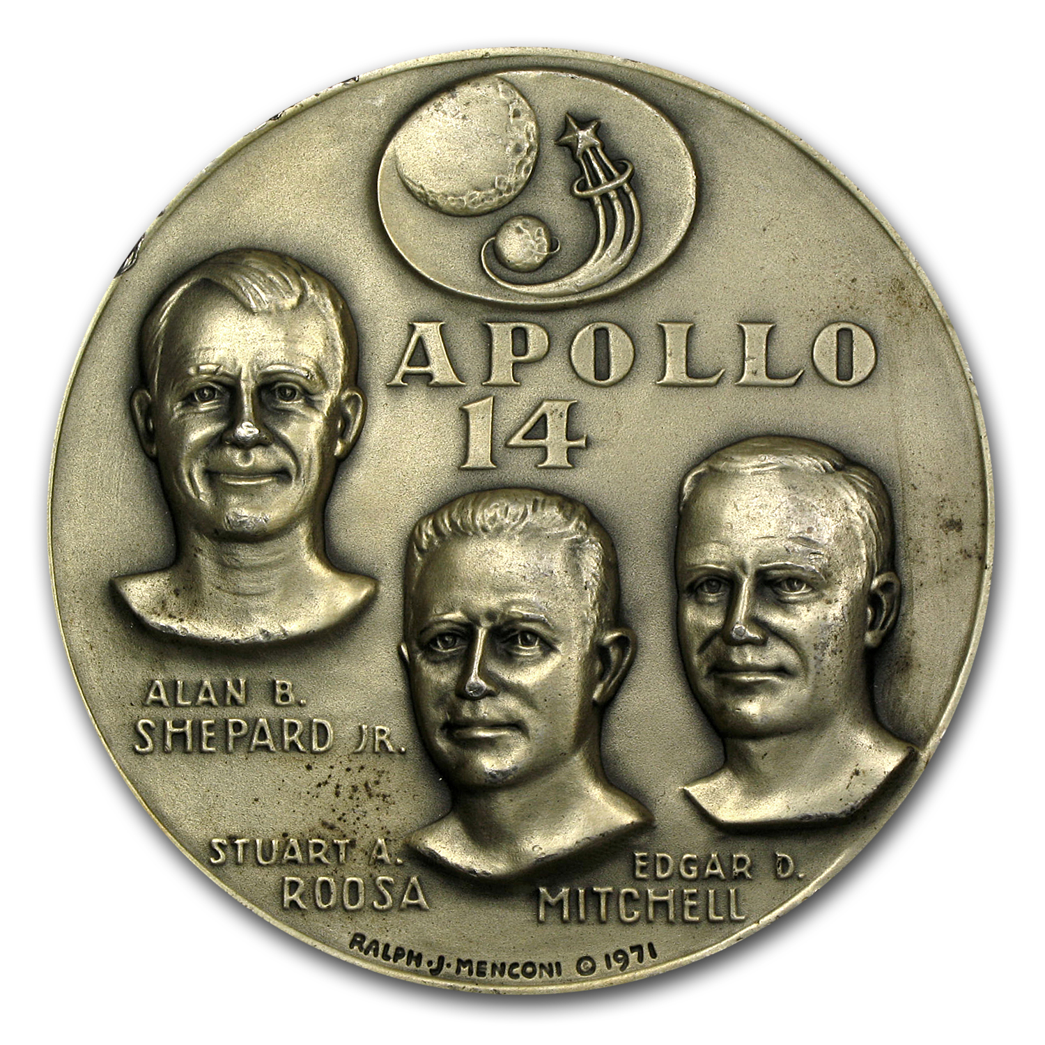 4.74 oz Silver Rounds - APOLLO 14