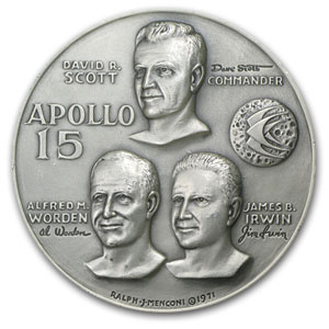 4.73 oz Silver Round - APOLLO 15