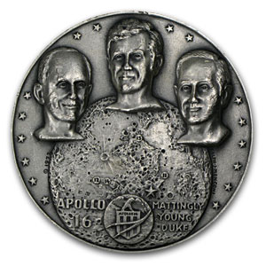 4.82 oz Silver Rounds - APOLLO 16