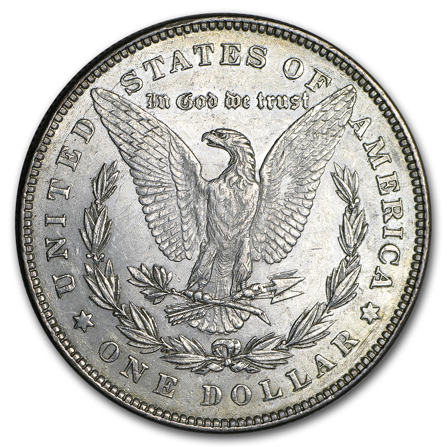 1878 Morgan Dollar - 7/8 Tailfeather Strong - Almost Uncirculated