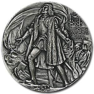 6.56 oz Silver Round - Christopher Columbus