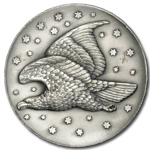 6.895 oz Silver Rounds - Gobrecht Eagle Coin