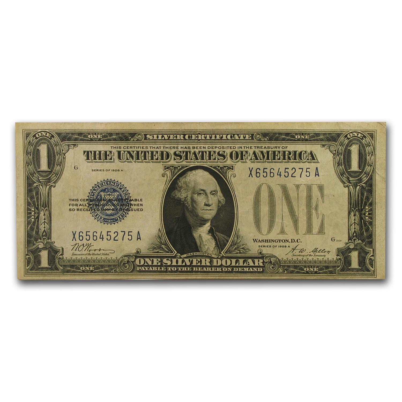 1928 Thru 1928 B 1 00 Silver Certificate Vf 1928 1